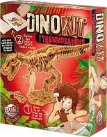 """Открий и сглоби скелет на динозавър - Тиранозавър - Детски образователен комплект от серията """"DinoKit"""" -"""