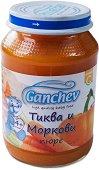 Ganchev - Пюре от тиква и моркови - Бурканче от 190 g за бебета над 4 месеца - продукт