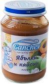 Ganchev - Пюре от ябълки и кайсии - Бурканче от 190 g за бебета над 4 месеца -