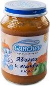 Ganchev - Пюре от ябълки и тиква - Бурканче от 190 g за бебета над 4 месеца -
