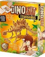 Открий и сглоби скелет на динозавър - Стегозавър - образователен комплект