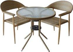 Комплект градински мебели - 390-4125В - Имитация на ратан