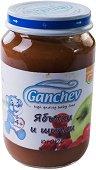 Ganchev - Пюре от ябълки и шипки - Бурканче от 190 g за бебета над 4 месеца - пюре