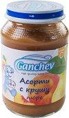 Ganchev - Пюре асорти с круши - Бурканче от 190 g за бебета над 4 месеца - пюре