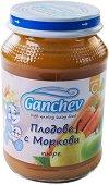 Ganchev - Пюре от плодове с моркови - Бурканче от 190 g за бебета над 4 месеца - пюре