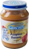 Ganchev - Пюре асорти с банани - Бурканче от 190 g за бебета над 4 месеца - пюре