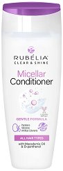 "Rubelia Clear & Shine Micellar Conditioner Gentle Formula - Мицеларен балсам за всеки тип коса от серията ""Clear & Shine"" -"