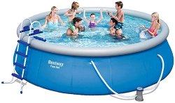 Надуваем басейн - Комплект с филтърна помпа, покривало, подложка и стълба