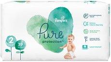 Pampers Pure Protection 2 - Пелени за еднократна употреба за бебета с тегло от 4 до 8 kg - продукт