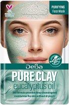Дълбоко почистваща маска за лице с глина и евкалипт - За нормална към смесена кожа - маска