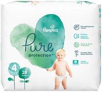 Pampers Pure Protection 4 - Пелени за еднократна употреба за бебета с тегло от 9 до 14 kg -