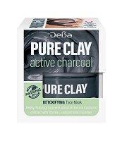 Детоксикираща маска за лице с глина и активен въглен - За всеки тип кожа - продукт