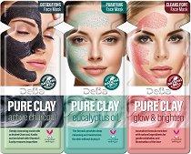 Комплект от три маски за лице с глина - шампоан