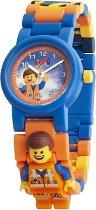 """Детски ръчен часовник - LEGO The Movie 2: Emmet - Комплект с фигурка от серията """"LEGO: Филмът"""""""