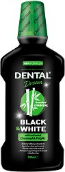 Dental Dream Black & White Mouthwash - Вода за уста с активен въглен - душ гел
