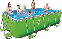 Правоъгълен сглобяем басейн - Passaat Green - Комплект с филтърна помпа и стълба -