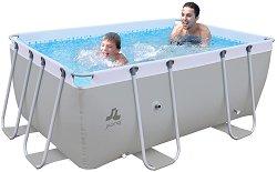 Правоъгълен сглобяем басейн - Passaat Grey - Комплект с филтърна помпа и стълба -