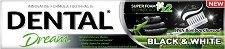 Dental Dream Black & White Toothpaste - Избелваща паста за зъби с активен въглен от бамбук -