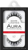 """Aura Power Lashes Fancy Diva 017 - Мигли от естествен косъм от серията """"Power Lashes"""" - пудра"""