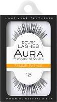 """Aura Power Lashes Femme Fatale 018 - Мигли от естествен косъм от серията """"Power Lashes"""" -"""