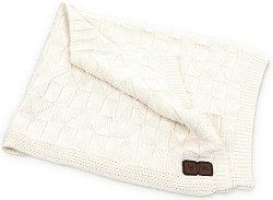 Бебешко памучно плетено одеяло - Размер 100 x 100 cm -