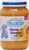 Ganchev - Пюре от манго и банани - Бурканче от 190 g за бебета над 4 месеца - пюре