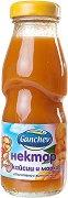 Ganchev - Нектар от кайсии и моркови - Стъклена бутилка от 200 ml за бебета над 4 месеца -