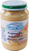 Ganchev - Пюре от картофи, моркови и овесени ядки - Бурканче от 190 g за бебета над 4 месеца - пюре