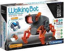 """Робот - Walking Bot - Образователен комплект от серията """"Clementoni: Science"""" - играчка"""