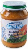 Ganchev - Пюре от спанак с моркови и картофи - Бурканче от 190 g за бебета над 4 месеца - продукт