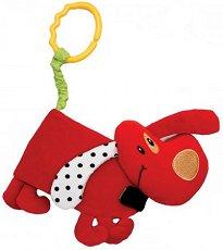Мека книжка - Кученце - Бебешка играчка за количка или легло -