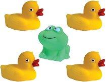 Водни приятели - Комплект от 4 играчки за баня -