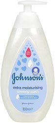 Johnson's Baby Extra Moisturising Creamy Wash - Бебешки душ гел с екстра овлажняващ ефект -
