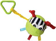 Мека топка - Бебешка играчка за детска количка или легло -