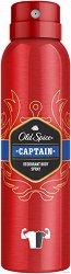"""Old Spice Captain Deodorant Body Spray - Спрей дезодорант за мъже от серията """"Captain"""" - афтършейв"""