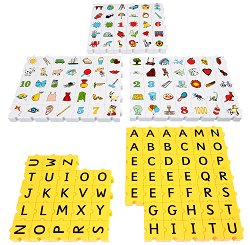 """Английска азбука с главни букви - 163 части - Образователен конструктор с шаблони за игра от серията """"Wordphun"""" -"""