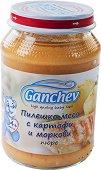 Ganchev - Пюре от пилешко месо с картофи и моркови - Бурканче от 190 g за бебета над 4 месеца - пюре