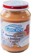 Ganchev - Пюре от пилешко месо с домати и ориз - Бурканче от 190 g за бебета над 4 месеца - пюре