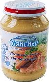 Ganchev - Пюре от пилешко месо със зеленчуци - Бурканче от 190 g за бебета над 4 месеца - пюре