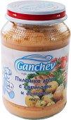 Ganchev - Пюре от пилешко месо с картофи и домати - Бурканче от 190 g за бебета над 4 месеца - пюре