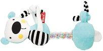 Плюшена дрънкалка - Бебешка играчка за количка или легло -