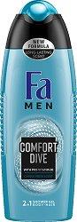 Fa Men Comfort Dive Shower Gel - Душ гел за мъже за коса и тяло - душ гел