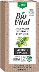 """Натурален почистващ гел за лице за нормална и мазна кожа - С про и пребиотици от серията """"Bio Vital"""" - серум"""