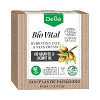 """Натурален хидратиращ крем за лице и шия 35+ - С био масла от арган и кокос от серията """"Bio Vital"""" - крем"""