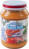 Ganchev - Пюре от риба хек със зеленчуци - Бурканче от 190 g за бебета над 4 месеца - пюре