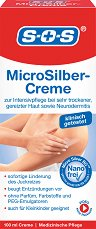 SOS MicroSilver Cream - Микросребърен крем за суха кожа - боя