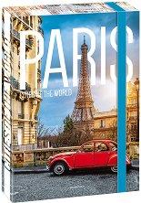 Кутия с ластик - Париж - Формат А4