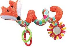 Лисицата - Foxy - Мека играчка за бебешка количка и креватче -