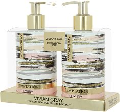 Vivian Gray Temptation Cream Soap & Hand Lotion Set - Подаръчен комплект с козметика за ръце -
