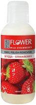 """Nature of Agiva Flower Nail Polish Remover Strawberry - Лакочистител с аромат на ягода от серията """"Flower"""" -"""
